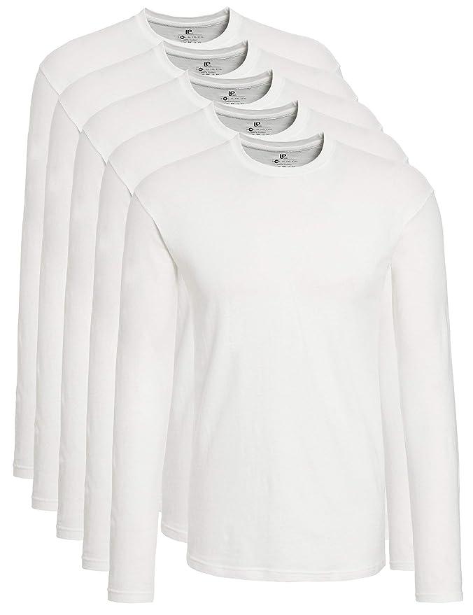 39 opinioni per Lower East T-Shirt a Maniche Lunghe Uomo, Pacco da 5