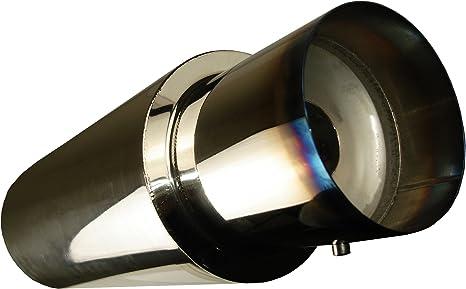 "3/"" N1 Dual Burnt Slant Tip Stainless 2.5/"" Weld-on Muffler Exhaust Universal B"
