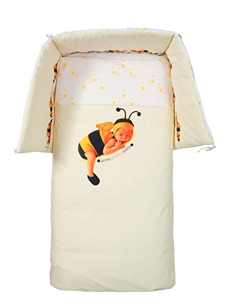 Anne Geddes Piumoni E Paracolpi.Anne Geddes Set Trapunta Paracolpi Piumino Lettino Baby Bee