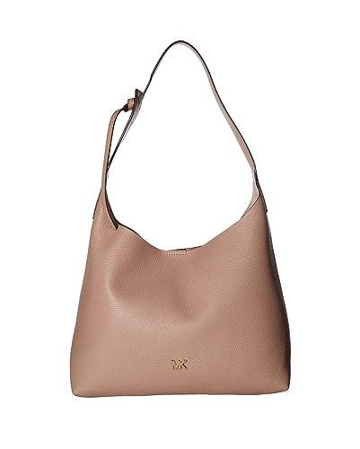a5fc8185fadd Amazon.com  MICHAEL Michael Kors Women Junie Medium Leather Hobo Bag ...