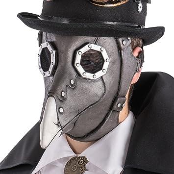 Carnival Toys 1484 Máscara Steampunk Cuervo, Gris, talla única
