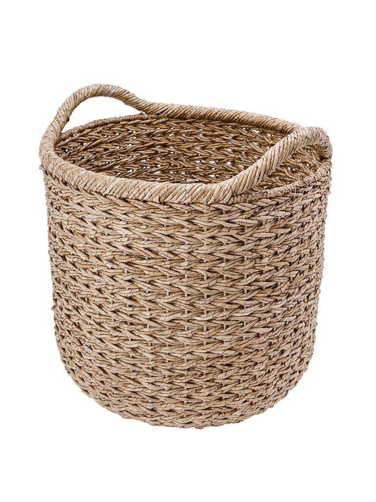 "KOUBOO 1060091 Handwoven Decorative Storage Basket, X-Large, 20"" x 20"" x 22"", Twisted Sea Grass - Diameter 20 inches x 19.5 inches high (22 inches with handles) Hand Made from twisted Sea grass in intricate sweater weave pattern This is a stiff, sturdy basket - living-room-decor, living-room, baskets-storage - 71Q0pRVcn2L -"