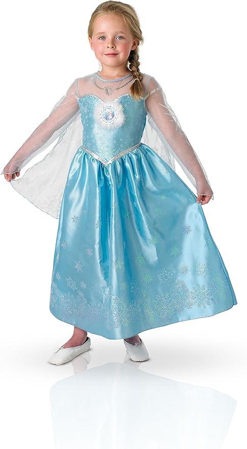 Amazon.es: Disney Frozen - Disfraz Deluxe de Elsa para niña