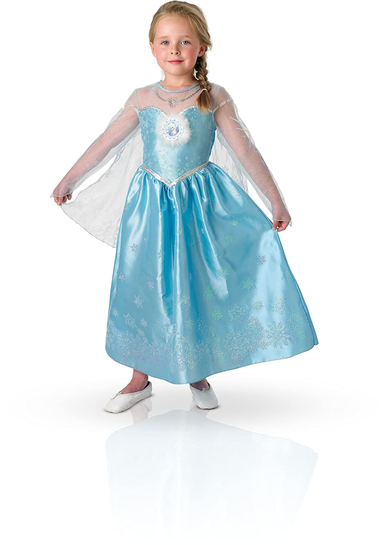 Rubies - 154985S - Traje - Deluxe Set - Elsa la Reina de las Nieves, S (3- 4 años): Amazon.es: Juguetes y juegos