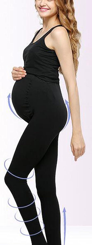 ZUMIY Damen Mutterschaft Schwangerschafts Strumpfhosen 120D Maternity Tights Verstellbares Breites Taillenband//Volle F/ü/ße