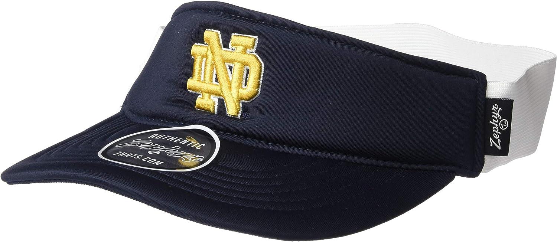 Zephyr NCAA Notre Dame Fighting Irish Mens Supervisorsupervisor Hypercool Visor One Size Primary Team Color