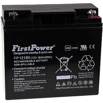 FirstPower Batería de Gel FP12180 12V 18Ah VDS: Amazon.es ...