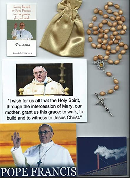 20ff7db448 Saint Martin de Porres Relic Rosary Blessed by Pope Francis on 3 14 2013 at  1st Mass Given by Him at Vatican s Sistine Chapel also Includes Photographs  of ...