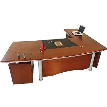 Berlin links Chef Schreibtisch Büro Bueromoebel Kirschholz 2,6 m ...