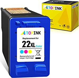 ATOPINK Remanufactured Ink Cartridge Replacement for HP 22XL 22 XL Compatible with OfficeJet 4315 J3680 J3508 J3606 J3608 J3625 Deskjet F4180 3910 3920 PSC 1410 1402 FAX 1250 3180 (Tri-Color, 1-Pack)