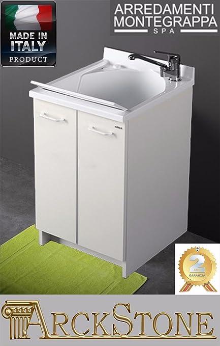 Lavatoio Edilla Montegrappa Bianco 60X50x85 cm: Amazon.it: Fai da te