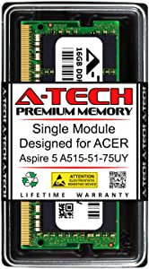 A-Tech 16GB RAM for ACER Aspire 5 A515-51-75UY | DDR4 2400MHz SODIMM PC4-19200 260-Pin Non-ECC Memory Upgrade Module