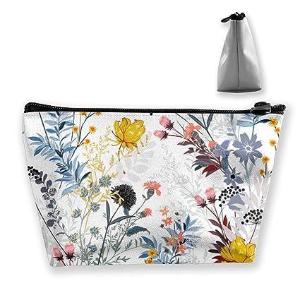 Bolsa de maquillaje floral Estacional Bolsas de aseo grandes ...