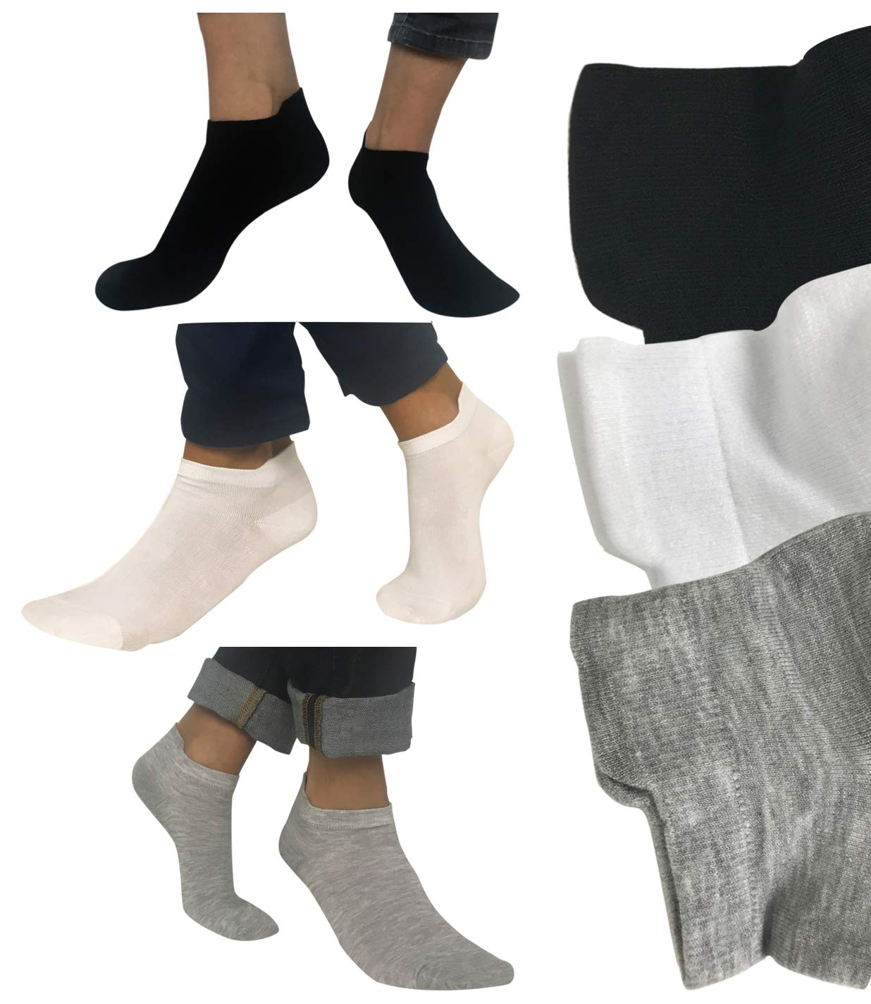 Calcetines tobilleros hombre mujer 6 pares Amadeos Casual product image