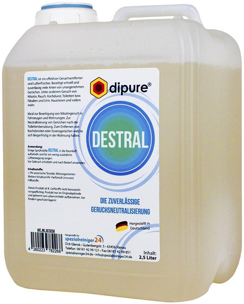 dipure® DESTRAL Geruchsneutralisierer mit Mikroorganismen 2,5 Liter ...