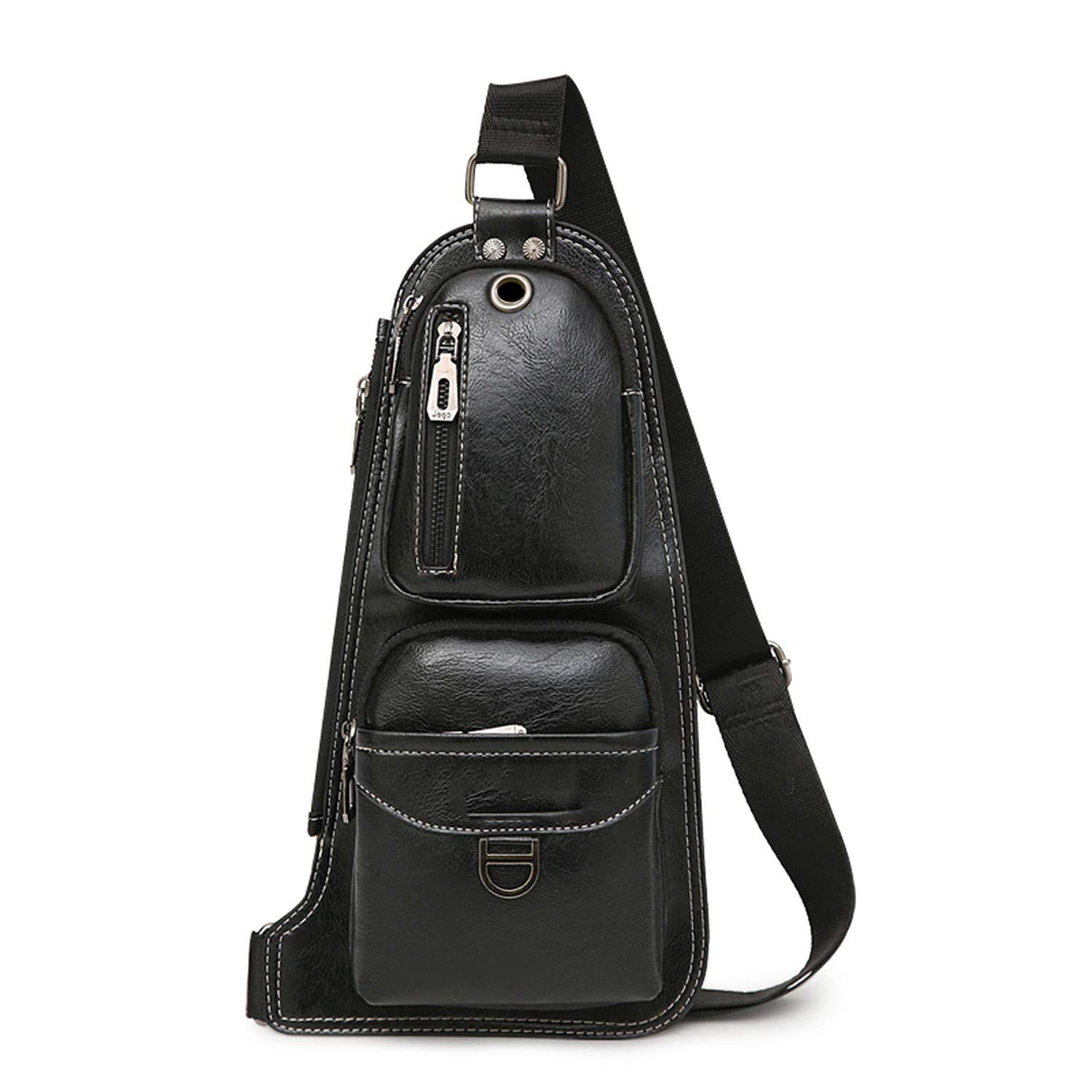 Men Messenger Bags New Hot Crossbody Shoulder Bag Famous Mans Leather Sling Chest Bag Casual 6196
