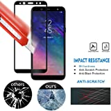 Samsung Galaxy A6 Plus Tempered 5D [Pack 0F 1], Full Tempered Glass for Samsung Galaxy A6 Plus - Black