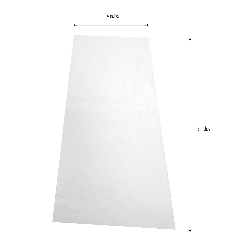 Amazon.com: Clear Resealable Poly Bolsas 4 x 8 – 2 ml – Pack ...