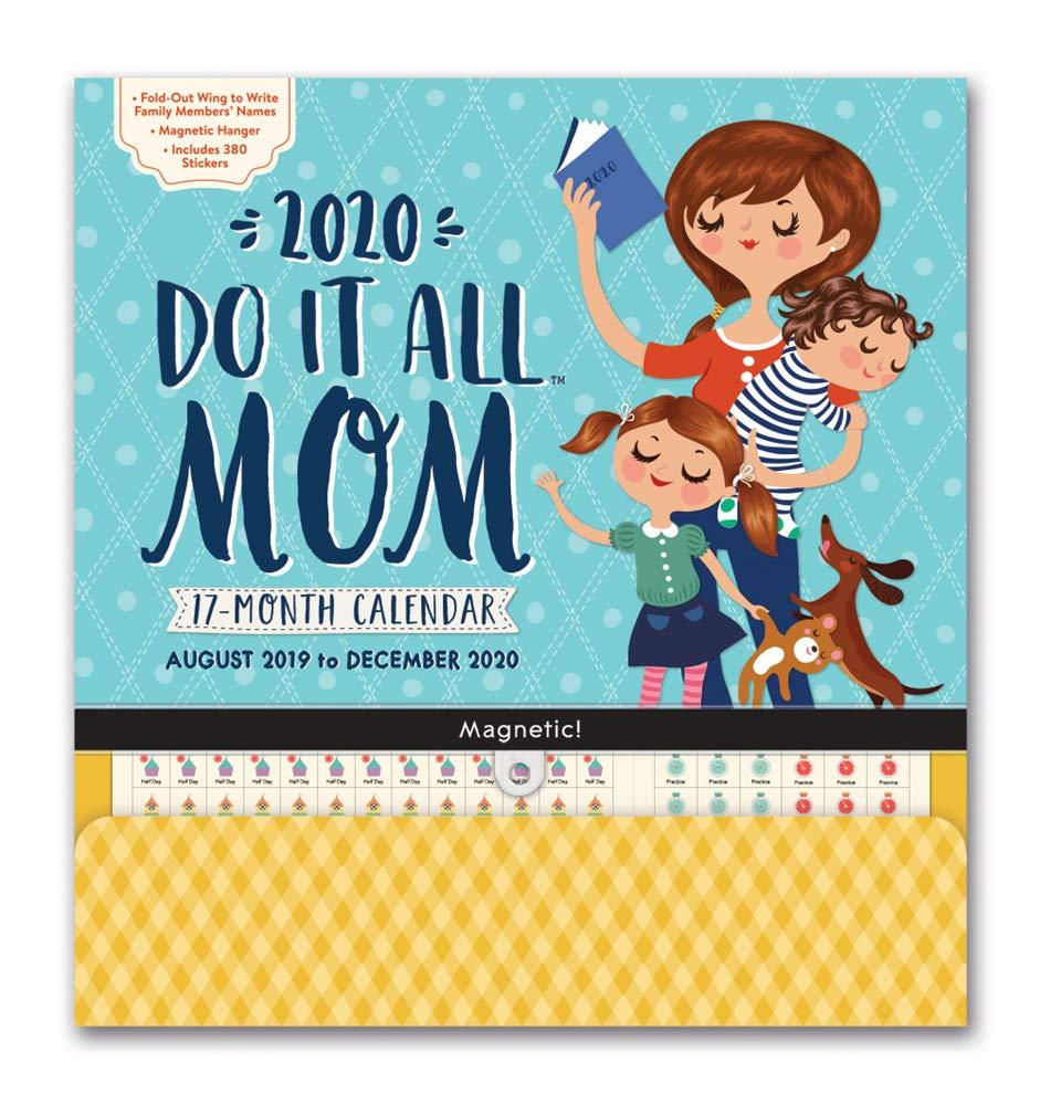 Orange Circle Studio 2020 Do It All Magnetic Wall Calendar, Moms Do It All