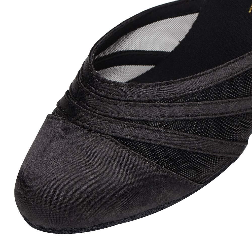 the latest d7f08 b9a2d Femmes Fermé Toe Talons Hauts Satin Mesh Salsa Latin Tango Chaussures De  Danse De Salon