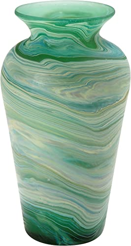 Ten Thousand Villages Hand Blown Phoenician Glass Vase 'Deep Currents Vase'