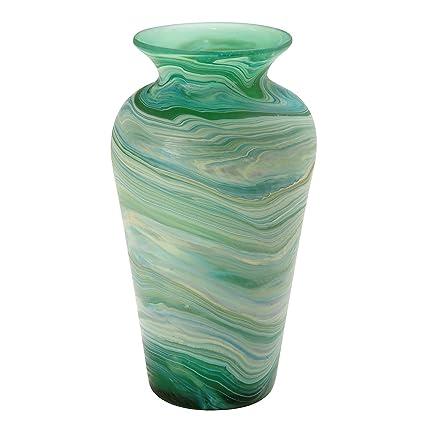 Amazon Ten Thousand Villages Hand Blown Phoenician Glass Vase