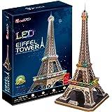 Puzzle 85 pièces - Puzzle 3D avec LED - La Tour Eiffel - Difficulté : 6/8