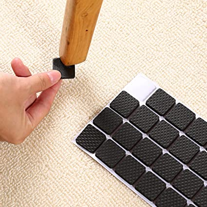 Self-adhesive Furniture Felt Pads LARGE PACK 132 pcs Chair leg floor protectors Black Beige & Self-adhesive Furniture Felt Pads LARGE PACK 132 pcs Chair leg floor ...