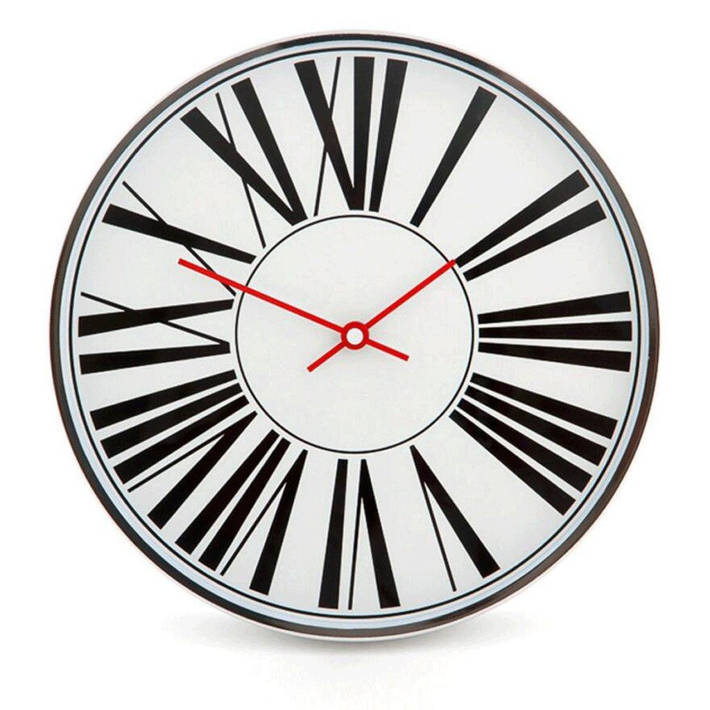 ガラス壁時計クォーツ時計リビングルームベッドルームミュート時計 GAODUZI (色 : F f) B07FNF94FL F f F f