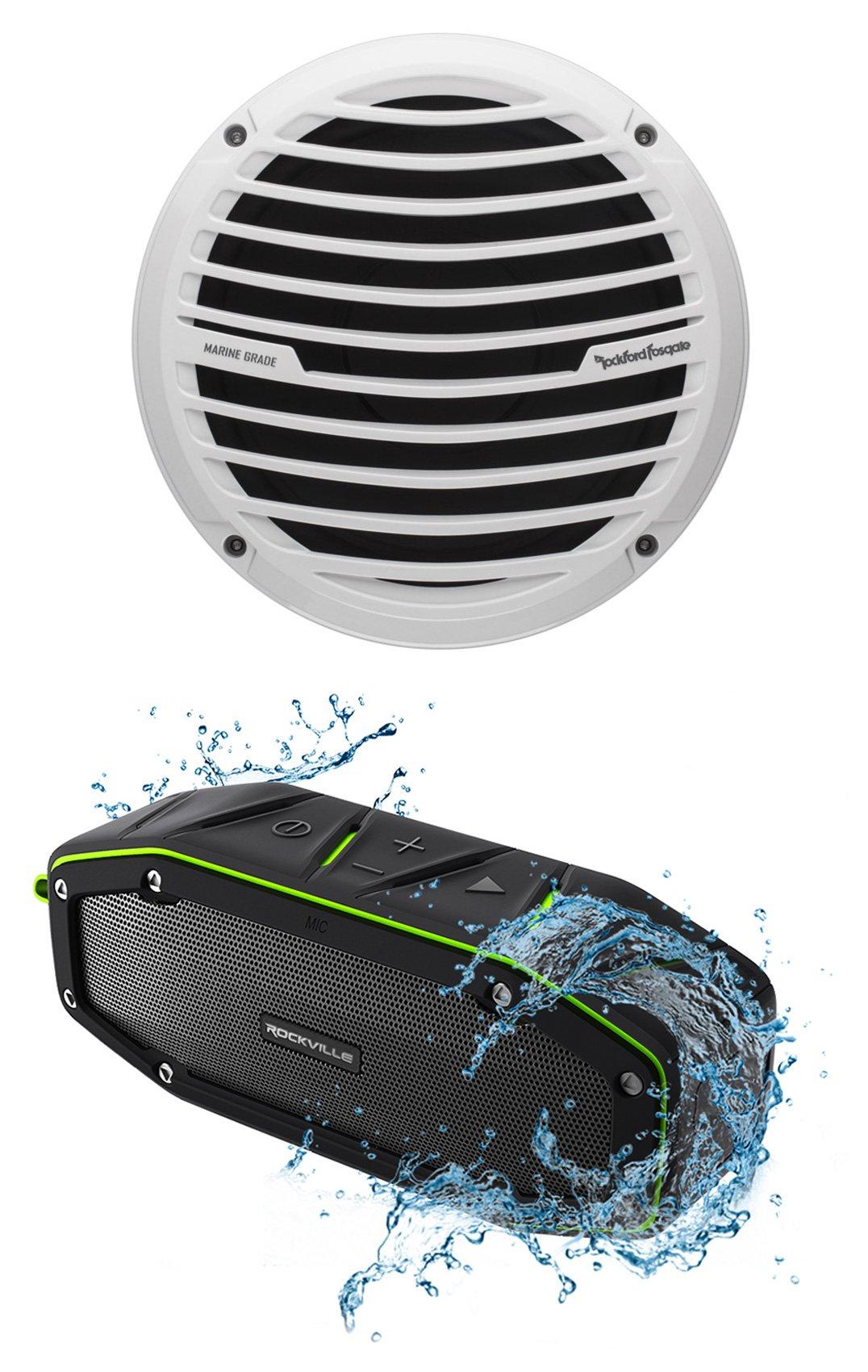 Rockford Fosgate RM18D2 8'' 300W Marine/Boat Subwoofer Prime Sub + Free Speaker