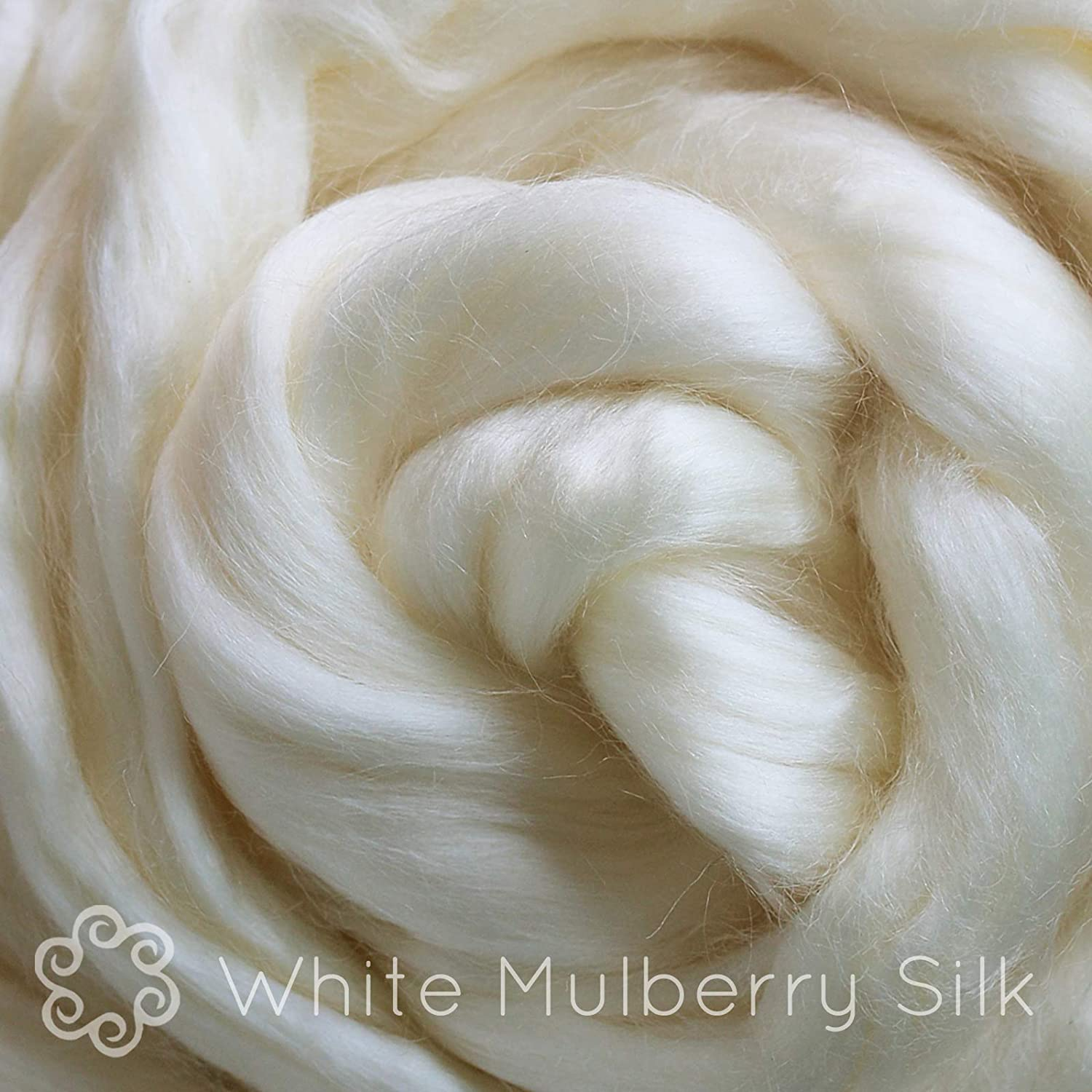 Spinning Dyeing Tussah Silk Fiber for Soap Making and Paper Making Blending Premium Grade Natural White Combed Top Roving. Felting