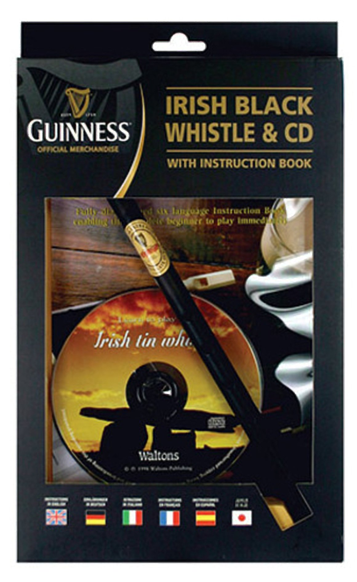 Guinness Irish Tin Whistle with Book & CD – Delivery from Ireland 6-9 Days