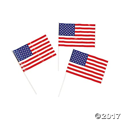 253e963cbc36 Image Unavailable. Image not available for. Color  72 Piece Bulk Pack  Plastic Mini American Flag ...