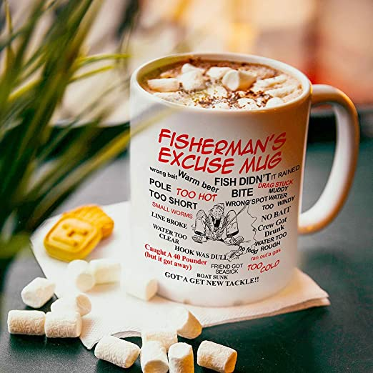 Fisherman/'s Excuse funny Joke Mug