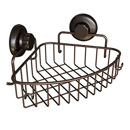Amazon Com Hasko Accessories Corner Shower Caddy With Suction Cup
