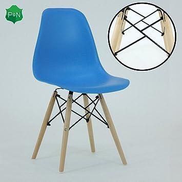 P & N Homewares® Romano DS Moda Stuhl Kunststoff Holz Retro ...