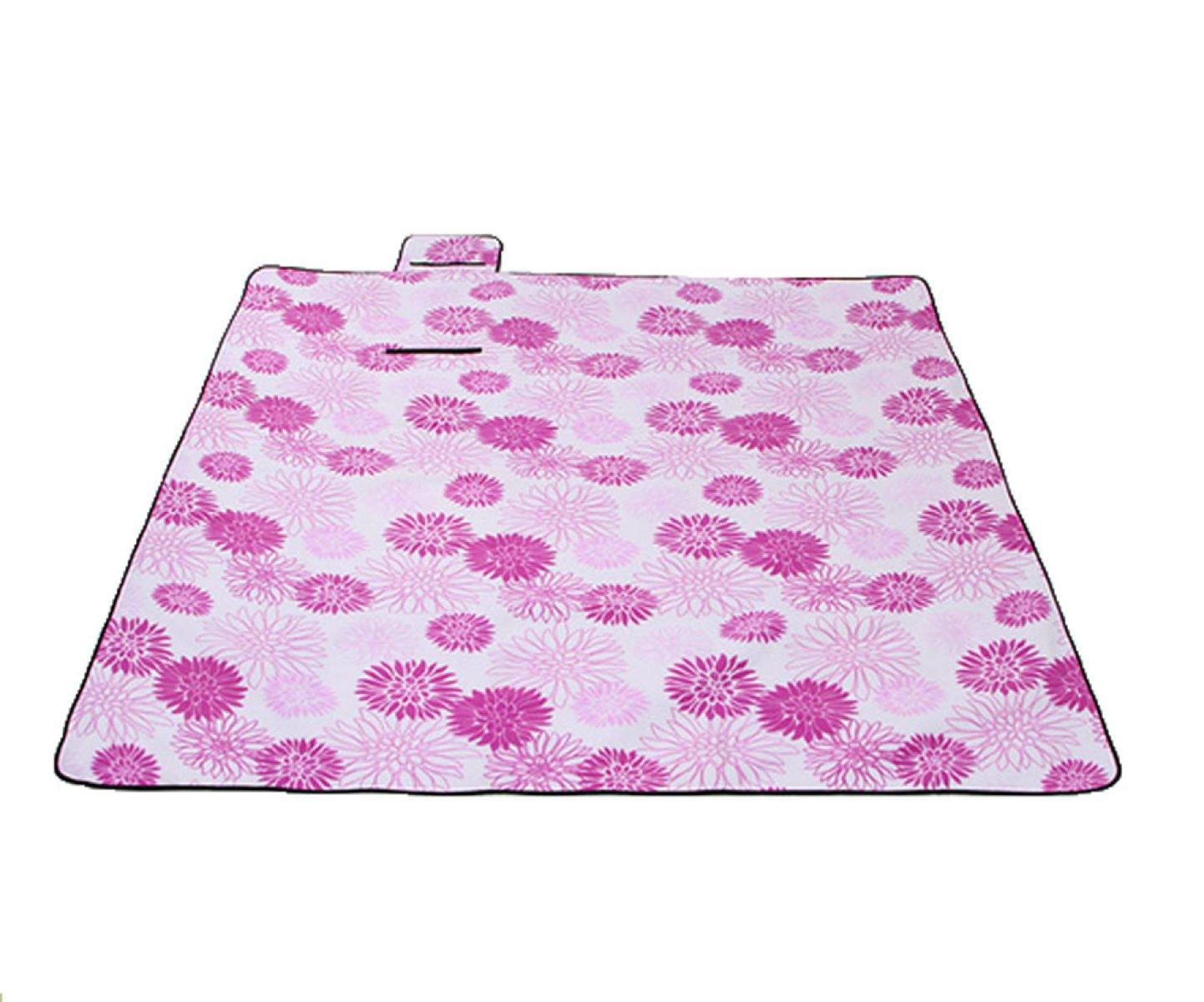Suede Aluminium Im Freien Feuchtigkeit Picknickmatte 200 * 200,Purple