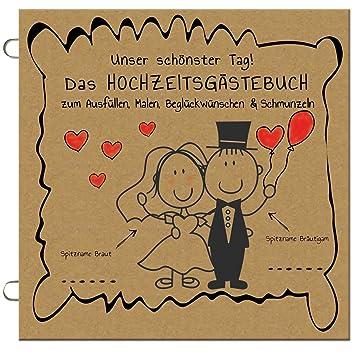 50x Das Lustige Hochzeitsgastebuch Zum Ausfullen Malen