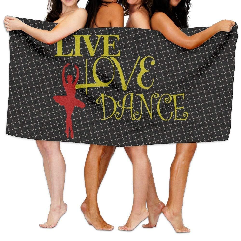 HONGYUDE Live Love Dance 100% Polyester Velvet Absorbent Bath Towel 31 X 51 inches