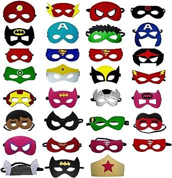 OCMCMO Máscaras de Superhéroe, máscaras disfraz superheroes niños ...