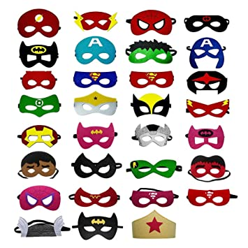 OCMCMO Máscaras de Superhéroe, máscaras disfraz superheroes niños, uguetes para Niños y Niñas , Máscaras para Niños, Kit de Valor de Cosplay de diseño ...