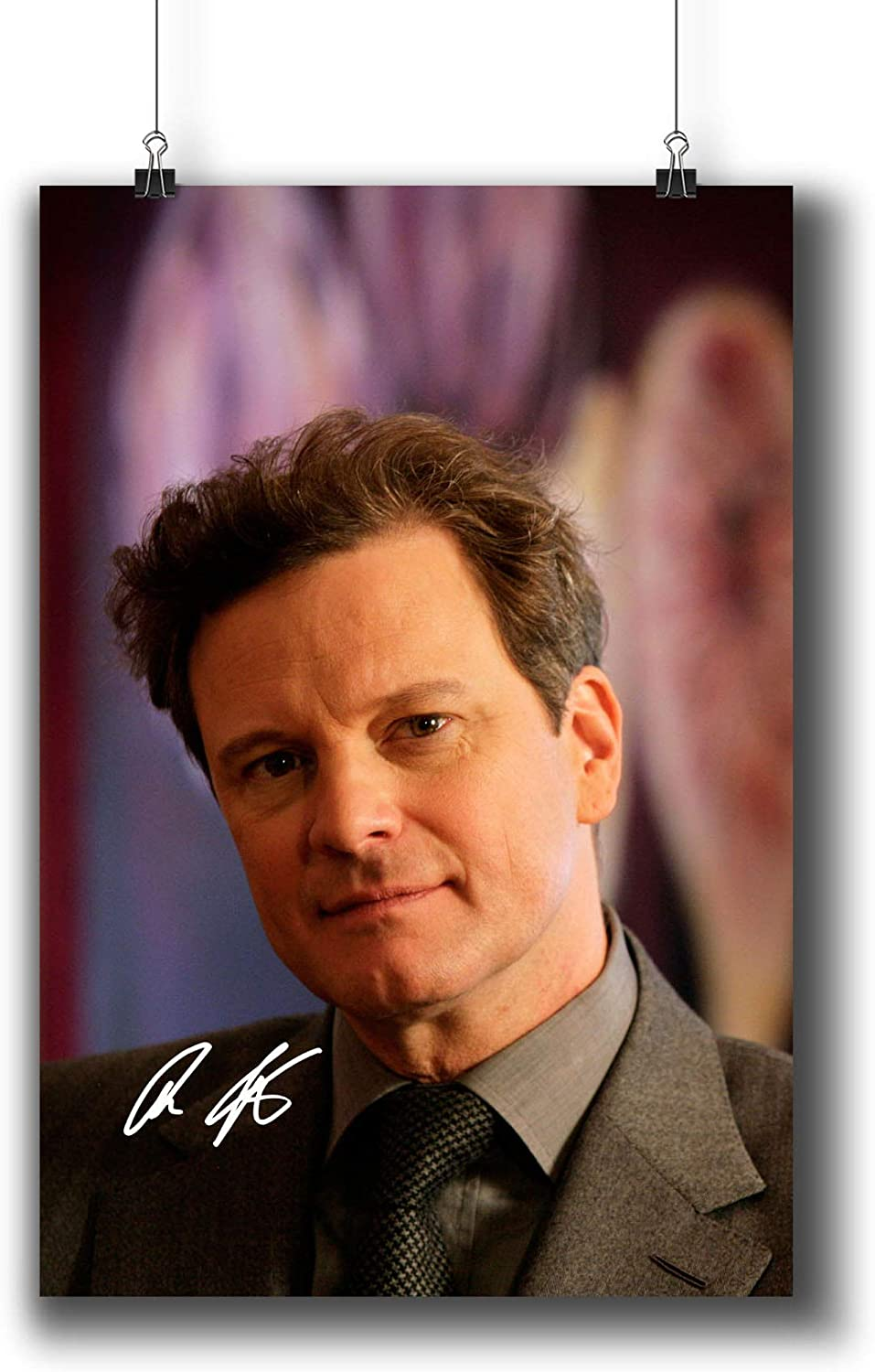 Colin Firth Actor Movie Photo Poster Prints 006-001 Reprint Signed,Wall Art Decor for Dorm Bedroom Living Room (A3|11x17inch|29x42cm)