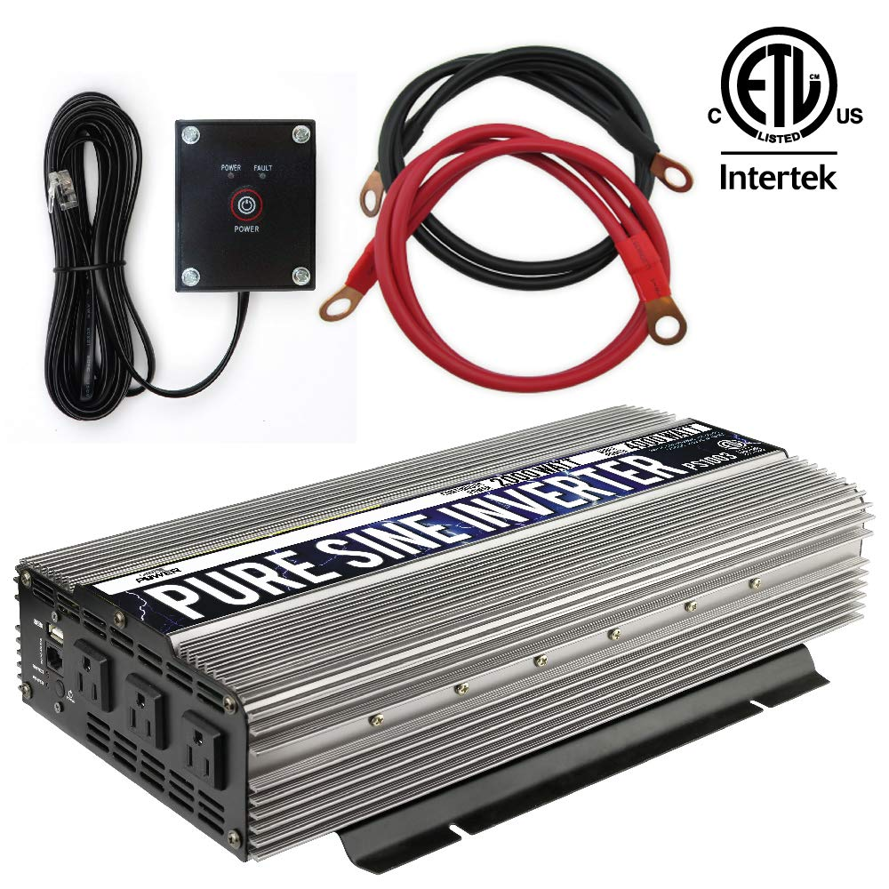GoWISE Power PS1003 Pure SINE Wave Inverter 2000w Cont/4000w Peak by GoWISE Power