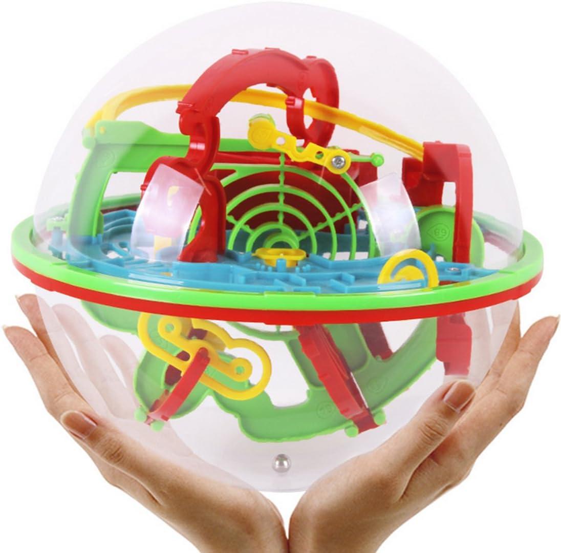 Foxom Juguete Educativo, Juego Magic Maze Pelota Intelecto Rompecabezas para Niños Juguete Educativo, Color Aleatorio: Amazon.es: Juguetes y juegos