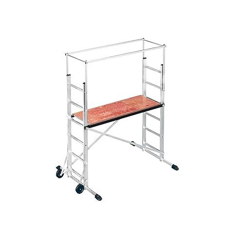Hailo ProfiStep multi, Alu-Leitern-Gerüst Grundelement, Arbeitshöhe: 300 cm, leicht, stabil & kompakt, made in Germany, 9476-