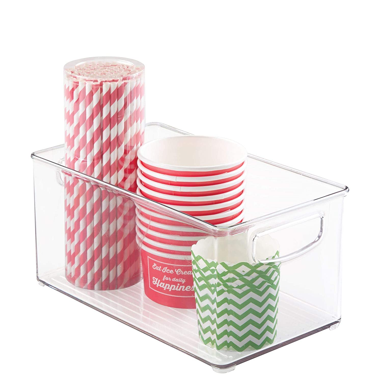 Freezer /& Storage Clear Plastic Storage Bin with Handles for Kitchen Fridge 10 x 5 x 6 BPA-Free Pantry and Cabinet Organization Freezer Refrigerator 10 x 6 x 5 10 x 5 x 6 10 x 6 x 5 64530 interDesign Home
