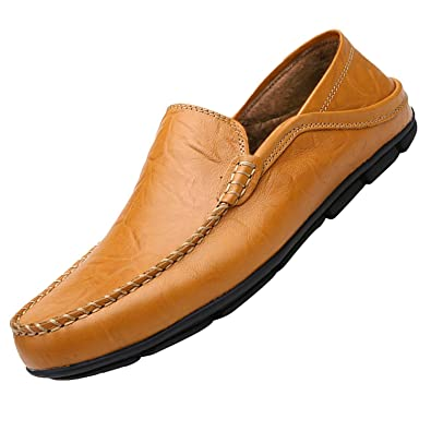 1bd71c9b001 Bifast Casual Tan Loafers for Boys Flat Slipper Mens Slip on Shoes All  Season