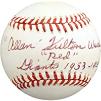 "$86 » Al Worthington Autographed Official NL Baseball New York Giants""Full Name""Red"" Giants 1953-57 65 WS"" Beckett BAS #S78887 - Beckett…"