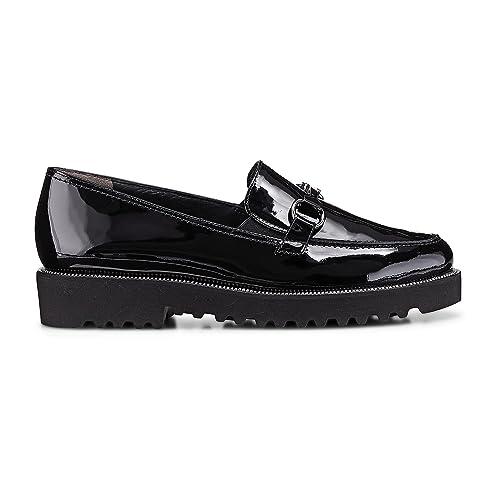 Paul Green 2268-011 - Mocasines de Charol para Mujer, Color Negro, Talla 43: Amazon.es: Zapatos y complementos