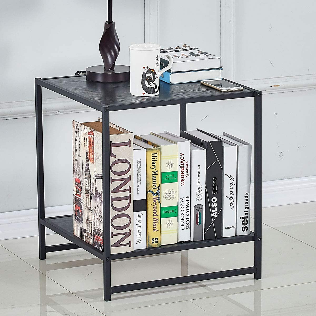ZoonaeHaii 18.2 Inch Square Side End Table Night Stand 1pcs